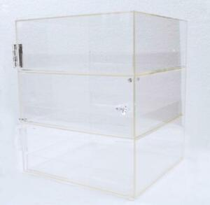 Used 3 Trays Acrylic Bakery Display Case Second Hand #021034