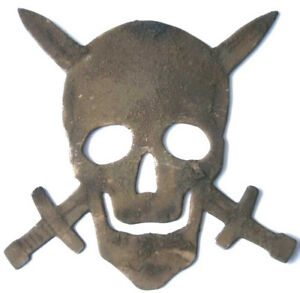 Original Rare German WW2 Skull with Swords from Special Troop
