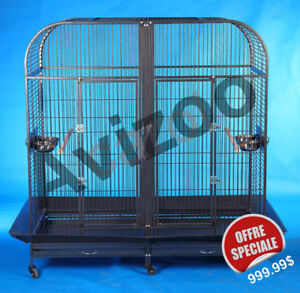 CAGE POUR GRAND PERROQUET A/SEPARATION 60X30X61''