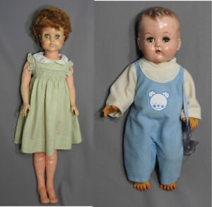 VINTAGE DOLLS. SWEET ROSEMARY and BABY BOY by RELIABLE.