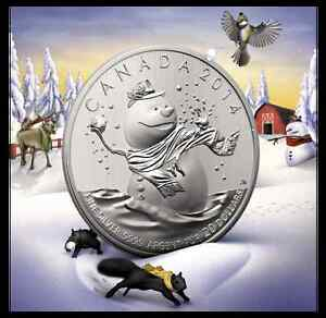 $20 for $20 SNOWMAN PURE SILVER COIN