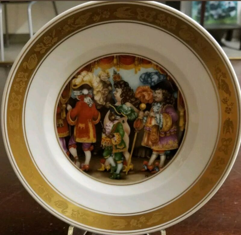 Hans Christian Andersen Plate Royal Copenhagen The Emperors New Clothes with Box