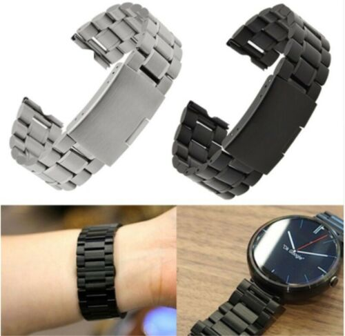22mm Luxury Stainless Steel Strap Band Bracelet For Fossil Q