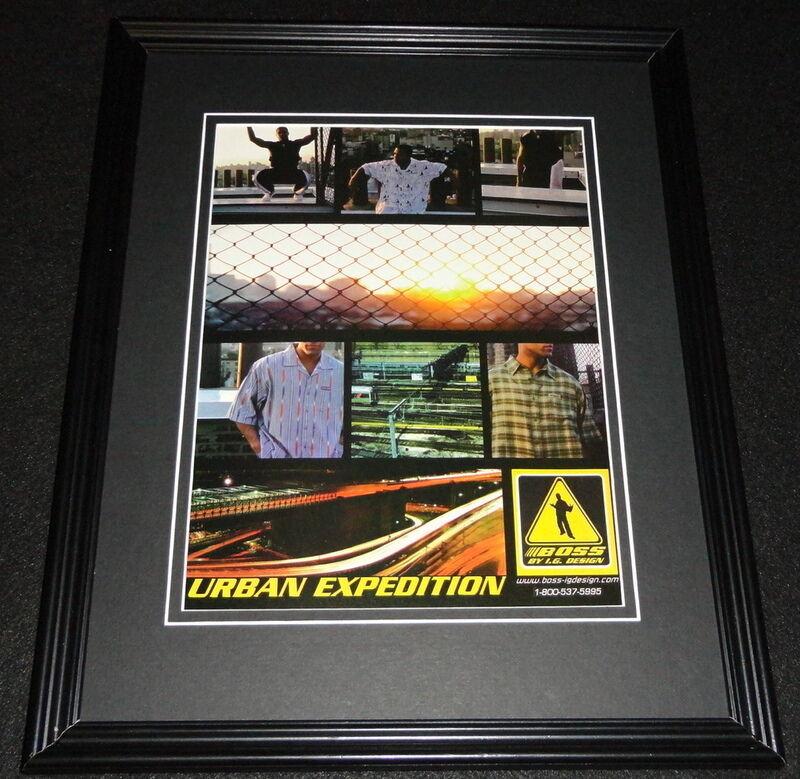 1999 Boss Urban Expedition IG Design Framed 11x14 ORIGINAL Advertisement