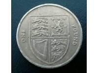 2008 royal shield of arms £1 coin