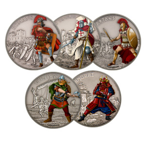 5-Coin 1 oz. Pure Silver Set – Warriors of History