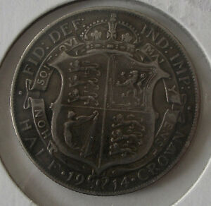 1914 Great Britain 1/2 Crown Silver Coin .925 Sterling Peterborough Peterborough Area image 3