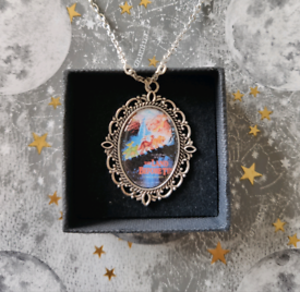 The Land Before Time Silver Cameo Charm Necklace