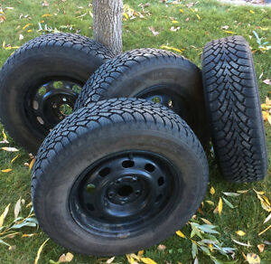 Goodyear Nordic Winter Tires with rims 195/70R14 - 195 70 R14 Edmonton Edmonton Area image 2