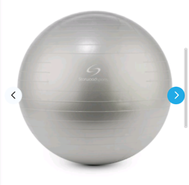 Free sport gym exercise ball in grey