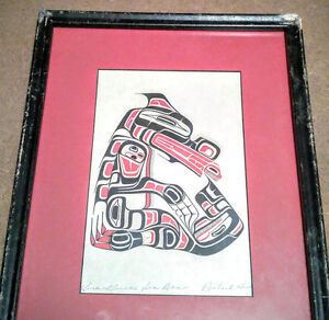 Richard Hunt - Kwakwaka'wakw First Nations vintage signed print