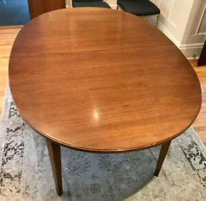 Wood dining room table.