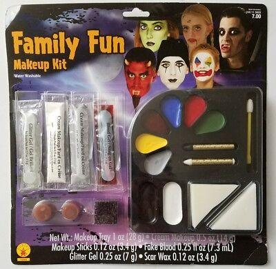 Rubie's Family Fun Makeup Kit Water Washable Halloween Glitter Gel Cream Sticks