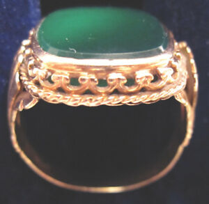 Man's Real Gemstone and Gold Ring