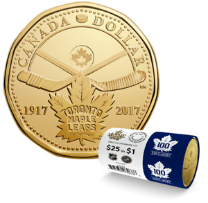 2017 $1 100th Anniv of The Toronto Maple Leafs Special Wrap Roll