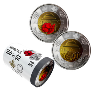 2018 $2 Special Wrap Roll: Anniversary of the Armistice of 1918