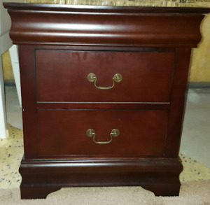 2 dark brown night stands for sale in Brampton