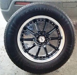 4 mags Dai noir + pneus / tires 235-65-17,