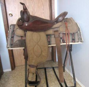"""17"""" Big Horn Cordura pleasure saddle, used"""