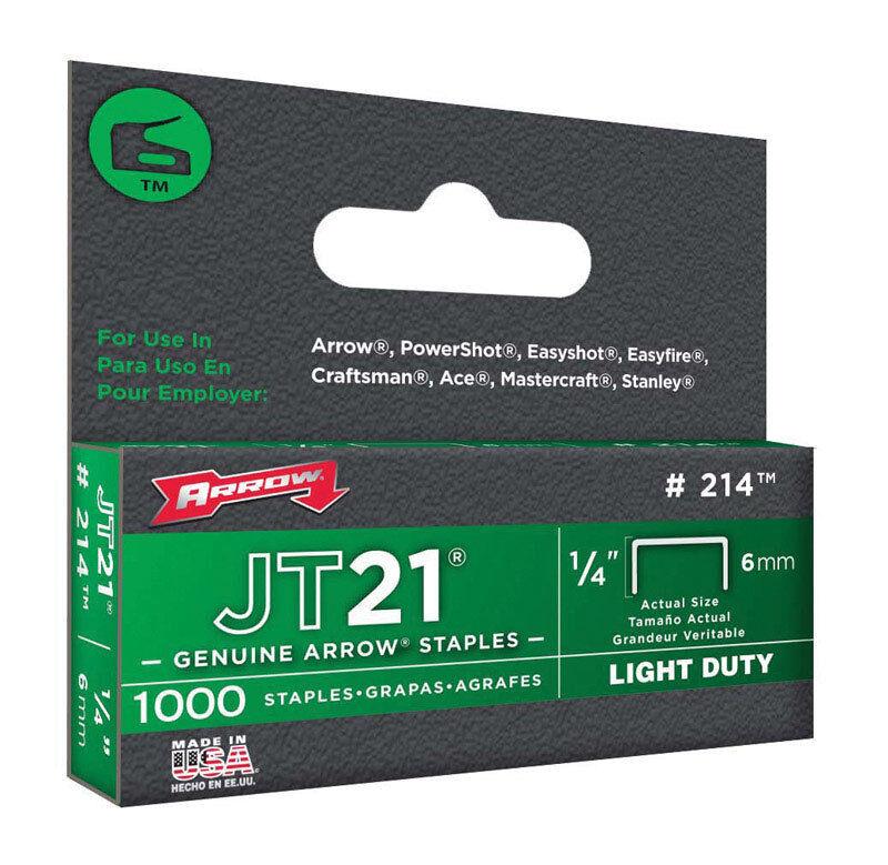 Arrow 214 JT21 1/4-Inch Staples, 1,000-Staples