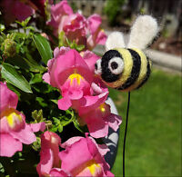 Needle Felting Class: Needle Felt Bee on a Wire - All Levels