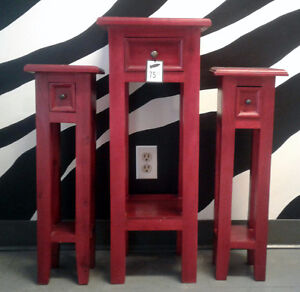 Red Tables (x3)