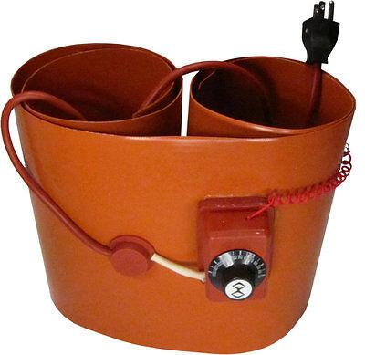 110v120v 1500w Silicon Band Drum Heater Wvo Oil Biodiesel Plastic Metal Barrel