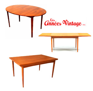 TABLLES Teck 1960 Scandinave Teak Table RS Fabian Danemark