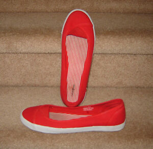 Red Slip On Shoes - size 10