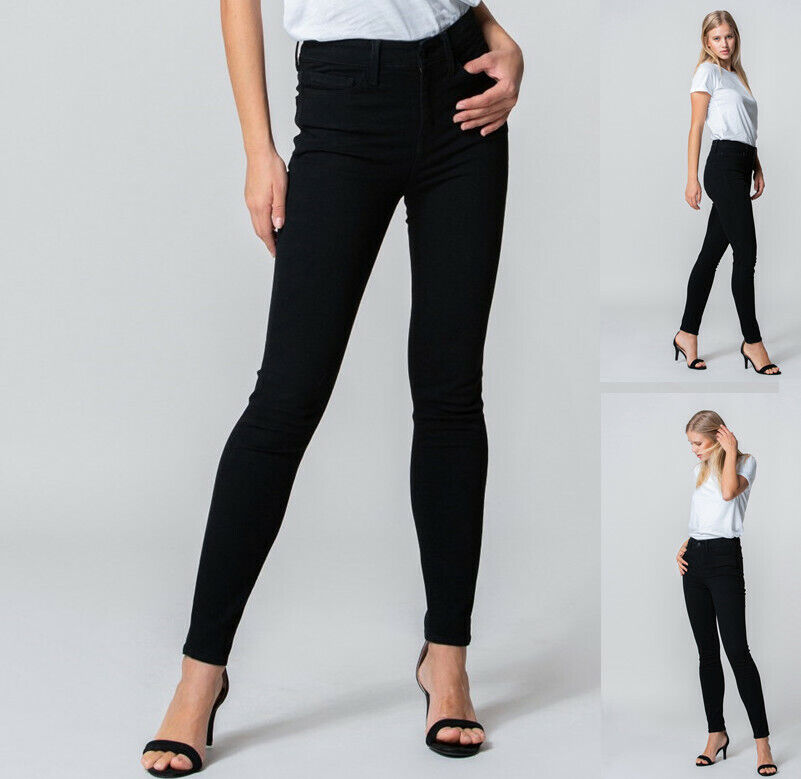 Women's Stretch High Rise Ankle Skinny Slim Denim Jeans by Flying Monkey Clothing, Shoes & Accessories