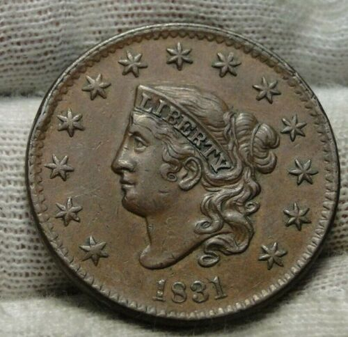 1831 Penny Coronet Large Cent -  Nice Coin, Free Shipping  (9368)