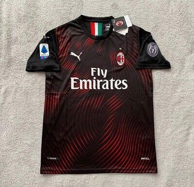 Krzysztof Piatek AC Milan Soccer Jersey Brand New Men's Away Black Jersey - L
