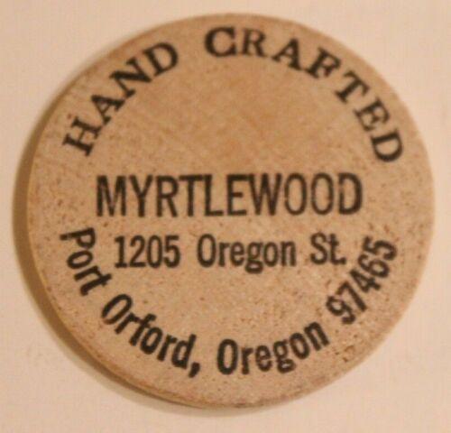 Vintage Myrtlewood Wooden Nickel Port Orford Oregon