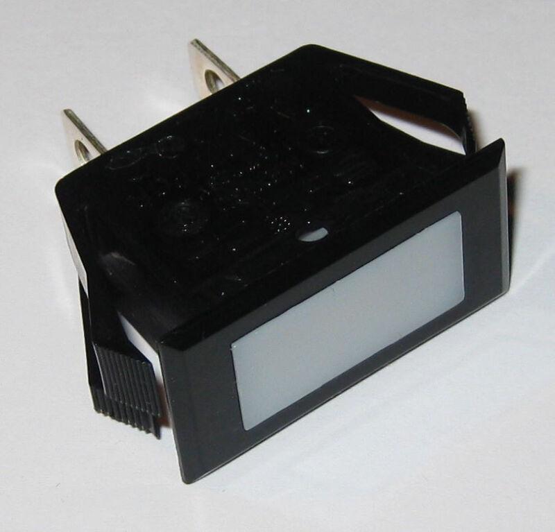 Solico Series 25 Amber Rectangular Panel Mount Indicator Light - 125V Neon