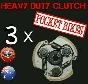 3 x Heavy Duty Pocket Bike Clutch for 49cc Pocket Rocket ATV Quad 47cc PARTS