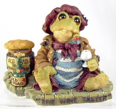 Boyds Bears JACQUES GRENOUILLE Frog Wine Taster 1E Jug, Cigar-W.C Fields Quote