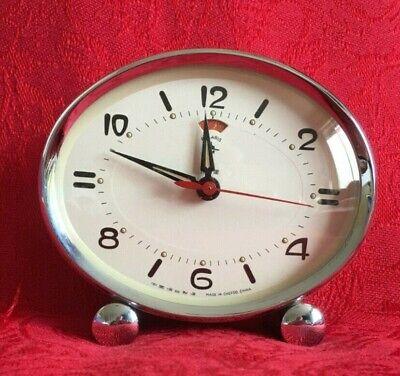 Vintage mechanical pale green Polaris alarm clock, CHEFOO, China working order