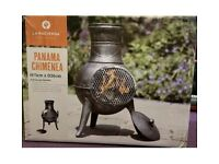 La Hacienda PANAMA Chimenea Burner Fire Pit Patio Heater Garden Brand New ✅