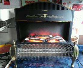 Log effect electric fire excellent order