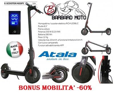 Atala, Monopattino Elettrico, Unisex, E-Scooter, MOOPY, App da Smartphone, Bonus