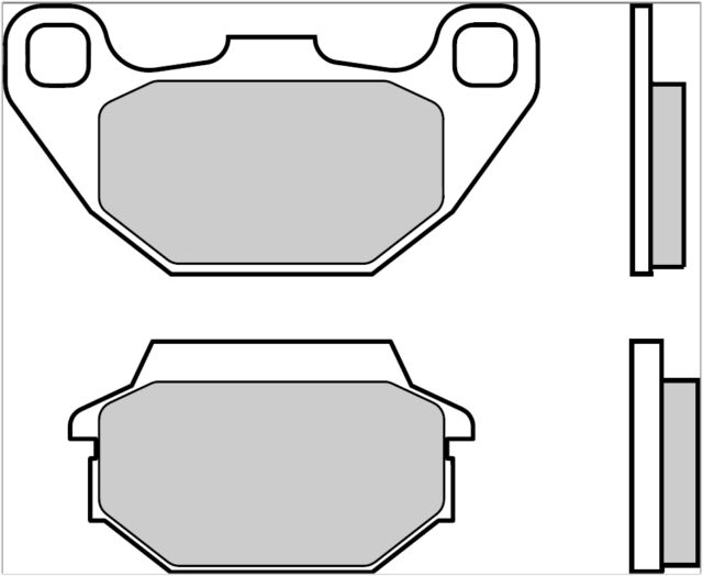 07022.CC Front Brake Pads BREMBO Kymco People S 50 2006/>