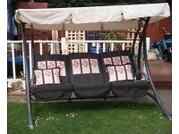 3 seater garden swing