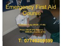 Emergency First Aid Course 1 day