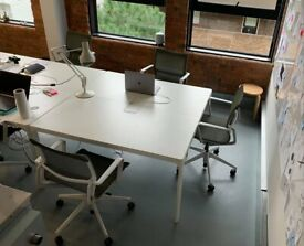 IKEA Bekant boardroom/meeting/conference/office/2-pod bench table/desk