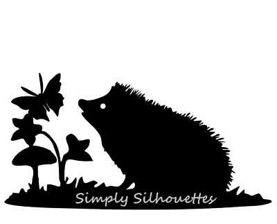 HEDGEHOG & BUTTERFLY SILHOUETTE DIE CUTS FOR CARDMAKING, CRAFT PROJECTS & MORE