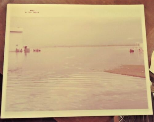 Vintage NASA Photograph Of Flooded Space Center Free Shipping s-76-26818