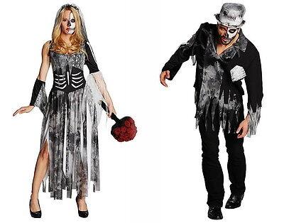 ZOMBIE-BRAUT od.BRÄUTIGAM Kostüm Horror Halloween Untote Leiche Zombiekostüm