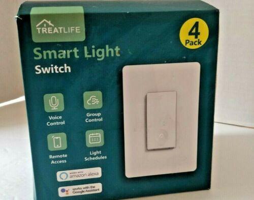 Treatlife Smart Light Switch 4 Pack Wi-Fi Alexa and Google
