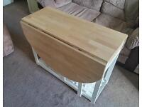 Ikea compact dining table + 4 chairs and cushions