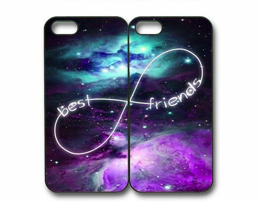 Custom Mint Purple Nebula BFF Best Friends Case -2 Cases For iPhone and Samsung